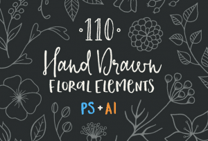 vecteur_handrawn_flowers_islagraph