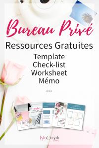 Bureau Privé : Ressources Gratuites (template, check-list, mémo, worksheet, ...)