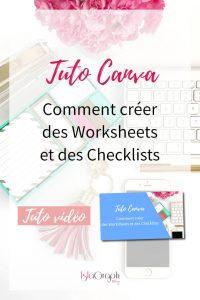 Tuto Canva : Créer des Worksheet et des checklists simplement.