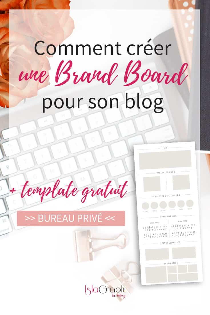 Tu as du mal à rester constante dans ton identité visuelle ? Réalise une Brand Board ! Je t'explique ce que c'est et comment en créer une + template GRATUIT #BrandBoard