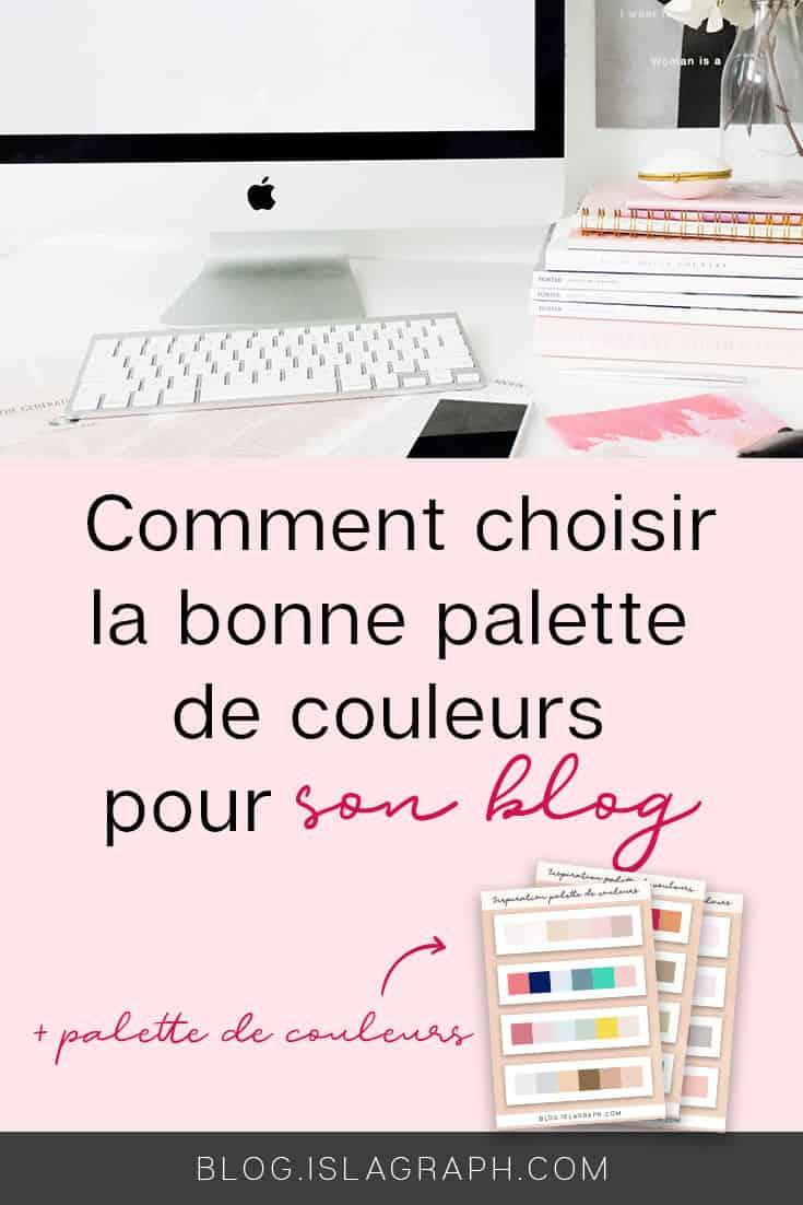 Choisir une palette de couleurs pour son blog n'est pas une chose facile et c'est un choix à ne pas prendre à la légère. Je t'explique comment créer ta palette de couleurs idéale + des fiches d'inspiration. #blogging #bloggingtips #colors