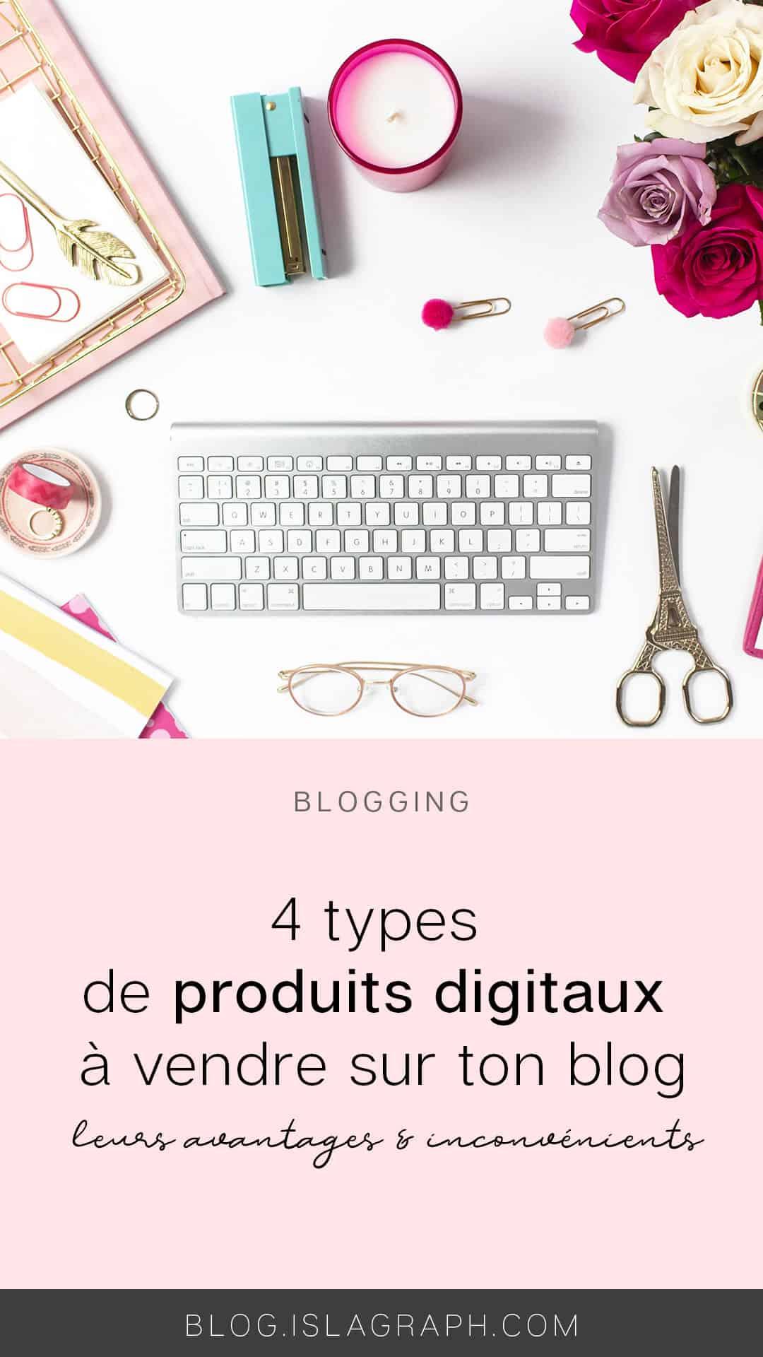 Même si vendre ses propres produits n'est pas la seule solution pour monétiser son blog, il s'agit de la méthode la plus répandue. Nous allons voir ensemble quel type de produit tu peux créer avec leurs avantages et inconvénients.