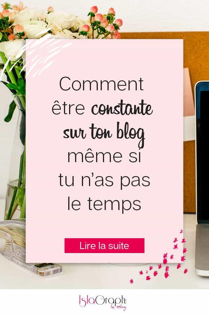 Être constante et régulière sur ton blog est important pour ton référencement et ton trafic et loin d'être impossible !