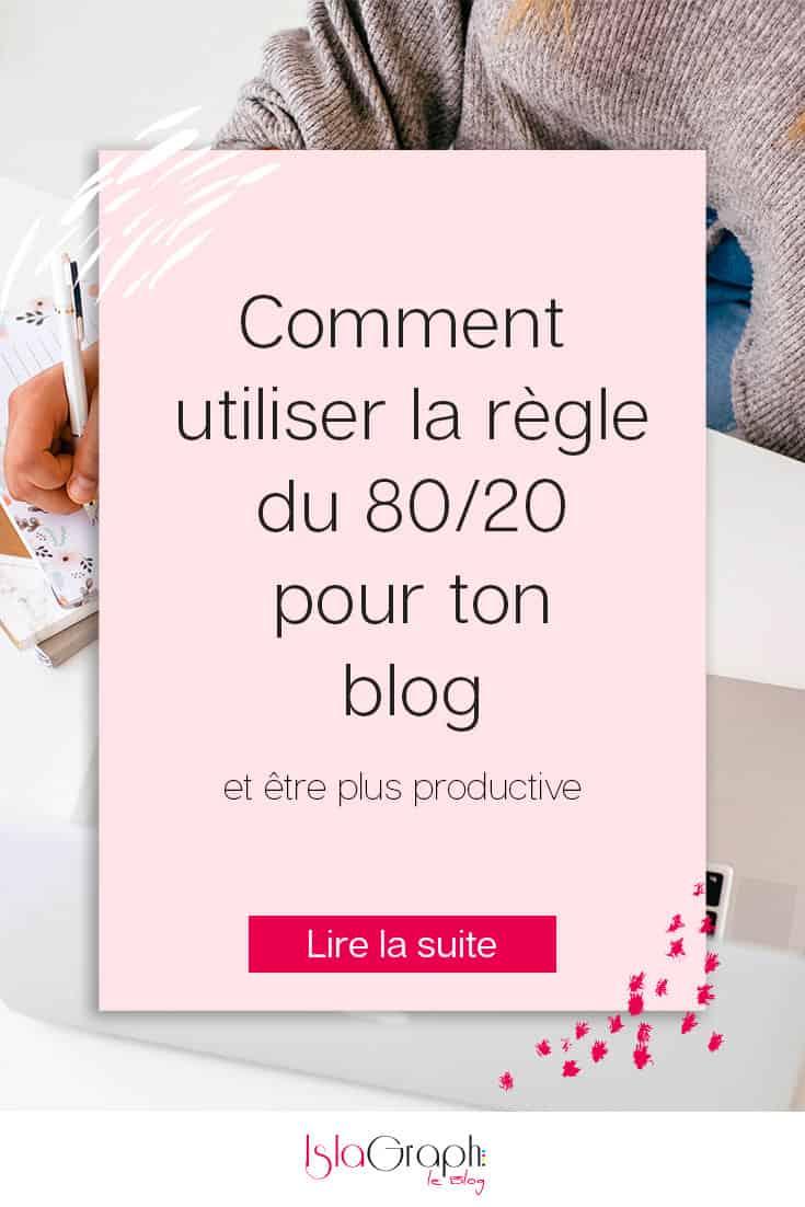 La règle du 80/20 dans le blogging